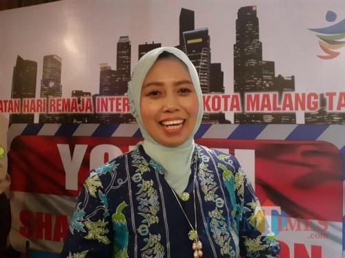 Kepala Seksi (Kasi) Kesehatan dan Gizi Dinkes Kota Malang, Meifta Eti Winindar, S.ST, M.M (Arifina)