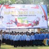 Peringati HUT Ke 74 Provinsi Jawa Timur, Pemkot Kediri Gelar Upacara