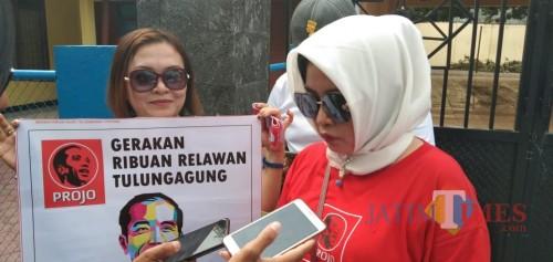 Ketua Relawan Pro Jokowi Kabupaten Tulungagung, Siti Munawaroh / Foto : Joko Pramono / Tulungagung TIMES