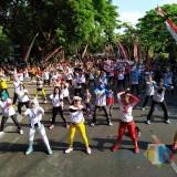 Padati Parkir Timur Alun-Alun, Ribuan Orang Deklarasi Tolak Kerusuhan dan Radikalisme di Tulungagung