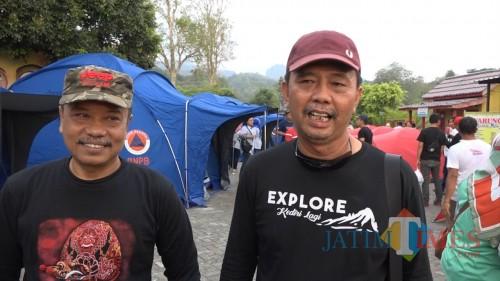 Kepala Dinas Pariwisata Kabupaten Kediri Adi Suwignyo (kanan). (Eko Arif S /JatimTIMES)