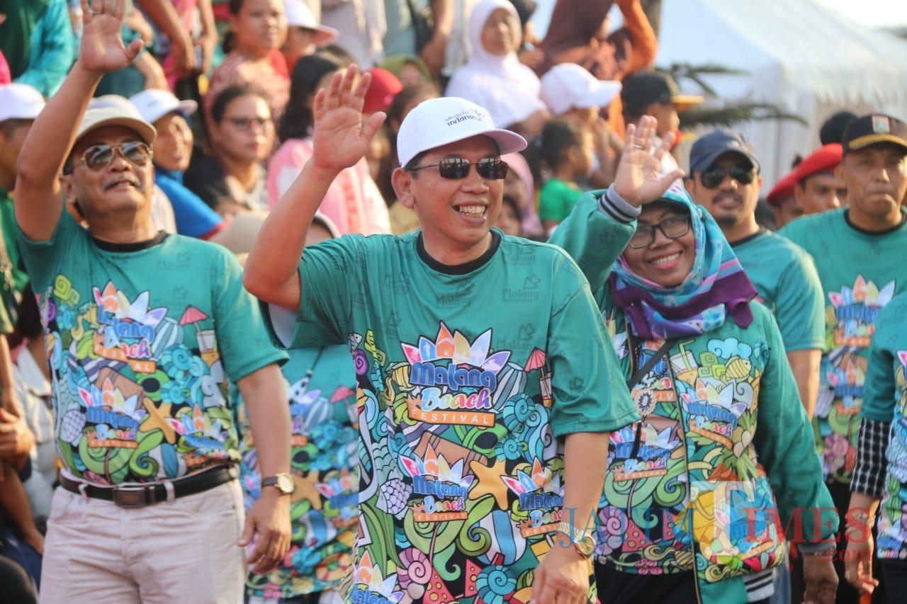 Sekda Kabupaten Malang Didik Budi Muljono (dua dari kiri) dalam acara bersama jajarannya. (Nana)