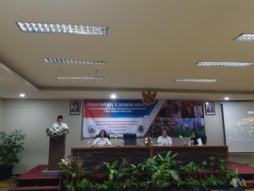 Suasana Rakor Bidang Perekonomian dan SDA Provinsi Jawa Barat konsep Urban Farming Kota Malang, Rabu (16/10) (Arifina Cahyanti Firdausi/MalangTIMES)