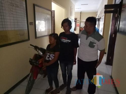 Polres Blitar Kota mengamankan pasutri pencuri motor