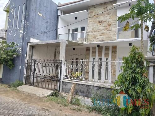 Rumah terduga teroris yang berada di Jalan Papa Biru, Kelurahan Tulusrejo, Kecamatan Lowokwaru, Kota Malang (Hendra Saputra)