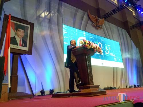 Putra sulung Presiden ke-3 RI BJ Habibie, Ilham Akbar Habibie. (Foto: Imarotul Izzah/MalangTIMES)