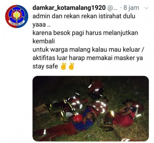 Cuitan Damkar Kota Malang (twiter)