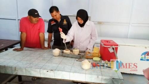 Satreskrim Pidum Polres Banyuwangi Gelandang Pedagang Makanan Berformarlin
