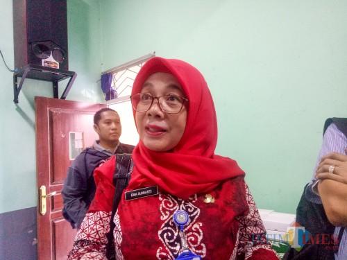 Kepala Cabang Dinas Pendidikan Wilayah Kota Malang dan Kota Batu, Ema Sumiarti. (Foto: Imarotul Izzah/MalangTIMES)