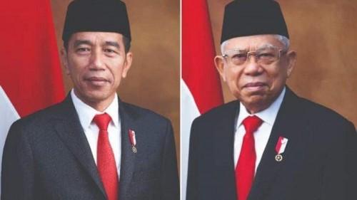 Presiden terpilih dan wakil presiden terpilih, Joko Widodo (Jokowi) dan Kiai Ma'ruf Amin. (Foto: istimewa)
