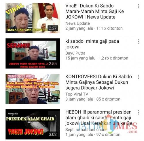 Tangkapan layar berbagai video Ki Sabdo Tagih Janji ke Jokowi (YouTube)