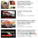 Kembali Bikin Heboh, Ki Sabdo Tagih Gaji dan Kutuk Jokowi Sampai 17 Turunan