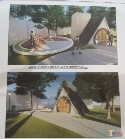 Visualidasi salah satu fasilitas di Hutan Kota Polowijen (Anggara Sudiongko/MalangTIMES)