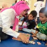 Anak-Anak Pengungsi Senang Diberi Trauma Healing di Posko