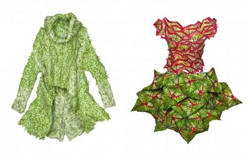 Kreasi baju dari bahan sayuran segar karya Sung Yeon Ju. (Foto: Istimewa)