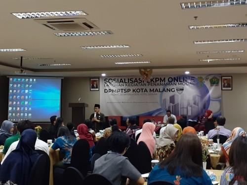 Suasana Sosialisasi Laporan Kegiatan Penanaman Modal (LKPM) online yang digelar Dinas Penanaman Modal Pelayanan Terpadu Satu Pintu (DPMPTSP) Kota Malang (Arifina Cahyanti Firdausi/MalangTIMES)