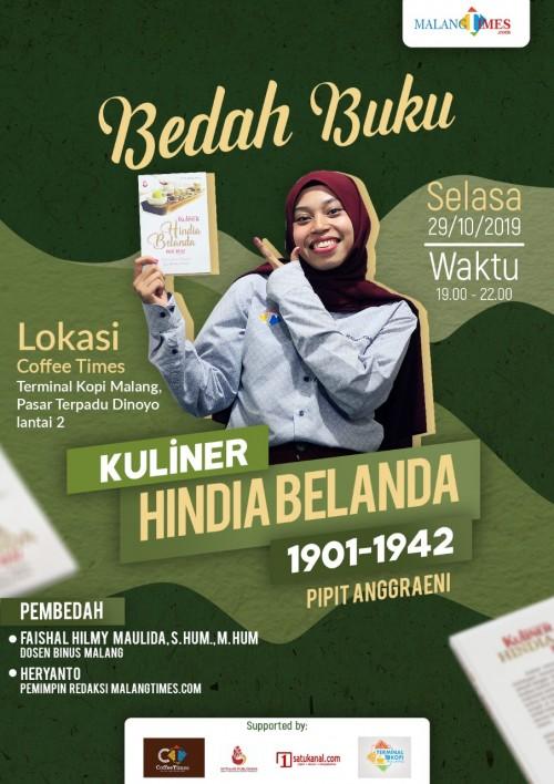 Anda Hobi Masak dan Ingin Tambah Wawasan Tentang Sejarah Kuliner, Yuk Ikuti Bedah Bukunya Sambil Ngopi di Coffee Times
