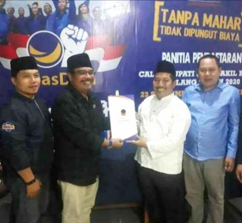 Loncat pagar, Ketua NU Kabupaten Malang merapat dan mendaftar ke NasDem yang menarget menjadi juara di Pilkada 2020 mendatang (Ist)