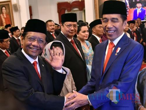 Mahfud MD, salah tokoh asal Jatim yang masuk Kabinet Indonesia Maju.
