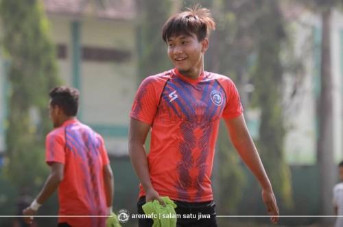 Ahmad Nur Hardianto yang digadang-gadang menjadi pengganti Sylvano Comvalius di lini depan (official Arema FC)