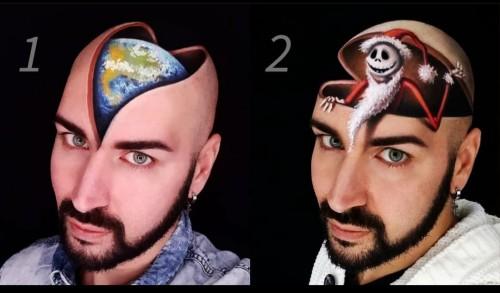 Karya riasan wajah 3 dimensi Luca Luce. (Foto: Instagram @lucaluceartgallery_makeup)