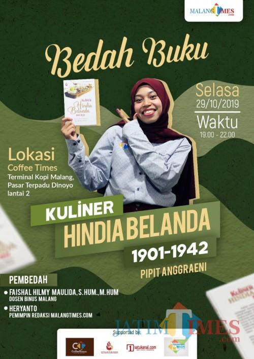 Poster Bedah Buku Kuliner Hindia Belanda (Foto: Dokumentasi MalangTIMES)