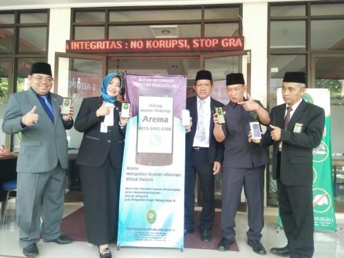 Suasana saat peluncuran layanan Arema di PN Kota Malang (ist)