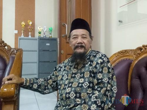 Ketua Lembaga Seni Budaya Muslimin Indonesia (Lesbumi) PBNU KH Agus Sunyoto. (Foto: Imarotul Izzah/MalangTIMES)