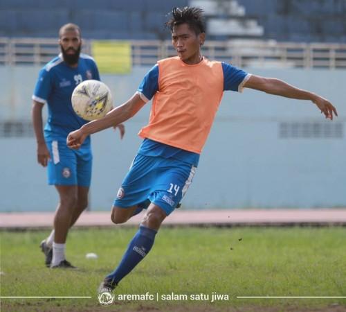 Gelandang bertahan Arema FC, Jayus Hariono (official Arema FC)