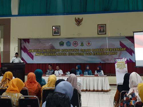 Suasana Skrining Hipotiroid Kongenital Dinkes Kota Malang di Gedung Kartini Malang, Rabu (30/10) (Arifina Cahyanti Firdausi/MalangTIMES)