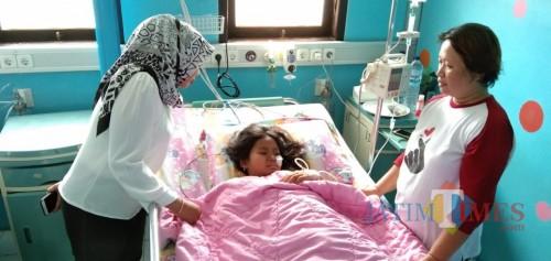 Salah satu penderita diare di RSUD dr. Iskak TUlungagung (foto : Joko Pramono/Jatim Times)