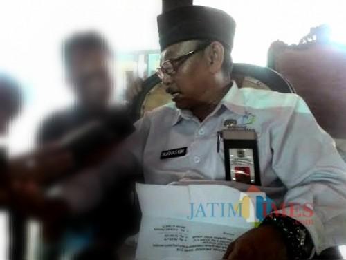 Kepala Dinsos Kabupaten Malang Nurhasyim meminta pemdes lakukan validasi warga miskin sesuai kondisi riil di lapangan. (Nana)