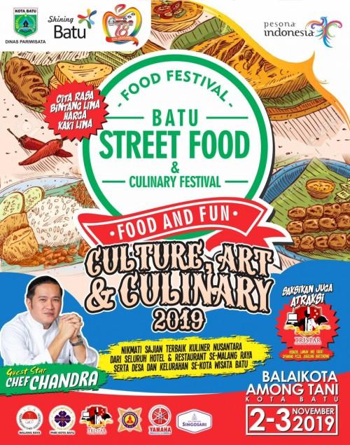 Cita Rasa Bintang Lima Harga Kaki Lima, Batu Street Food Festival 2019 Suguhkan 75 Booth