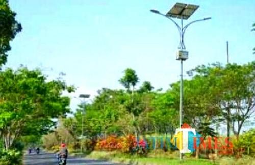 Pemkab Malang mendapat hibah 300 PJU dan siap menerangi 60 desa (Nana)