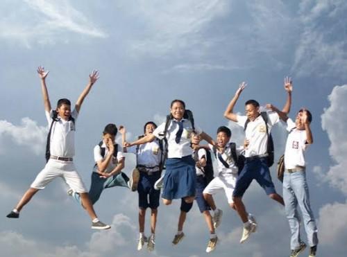 Ilustrasi kegembiraan peserta didik kejar Paket (Ist)