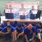 Satu Bulan, Satresnarkoba Polres Kediri Amankan 21 Pengedar LL dan Sabu-sabu