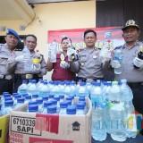 Ratusan Botol Arak Jowo Diamankan Polsek Pare