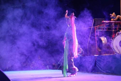 Salah satu penampilan tari merak di Festival Songgokerto.