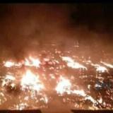 Inilah Video Detik-Detik Dahsyatnya Kebakaran Pasar Ngunut