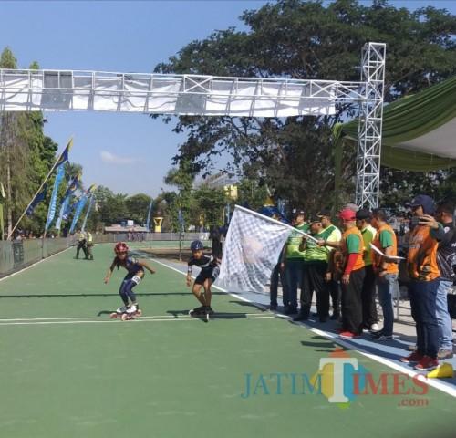 Bupati Malang Sanusi berharap sirkuit roller Kanjuruhan jadi venue cabor sepatu roda PON (Nana)