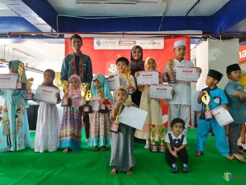 Para pemenang Lomba Anak Ceria se Malang Raya Minggu (10/11/2019) (Hendra Saputra)