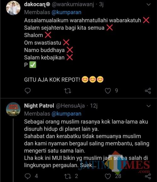 Viral, MUI Jatim Sebut Bid'ah Ucapkan Salam Berbagai Agama, Warganet Pecah