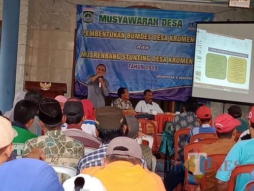 Rembug stunting desa di wilayah Kromengan sebagai upaya sinergitas pencegahan dan penurunan stunting di Kabupaten Malang (Nana)