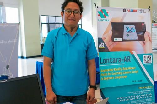 Hasbi, pembuat aplikasi Lontara-AR. (Foto: Humas)