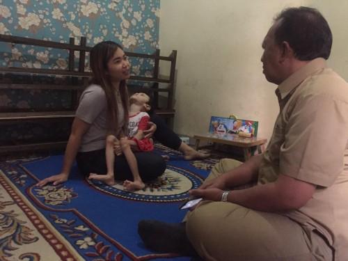 Gerak Cepat, Dinkes Kota Malang Kunjungi Balita Xavin, Penderita Kelumpuhan Otak