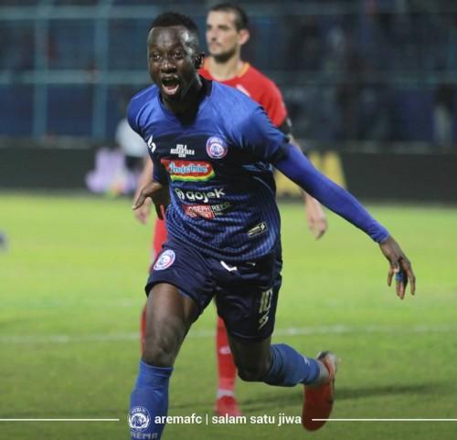 Makan Konate tetap akan menjadi tumpuan Arema FC saat menghadapi Persib Bandung (Official Arema FC)