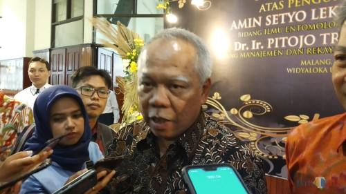 Menteri Pekerjaan Umum dan Perumahan Rakyat (PUPR) Basuki Hadimuljono. (Pipit Anggraeni/MalangTIMES).