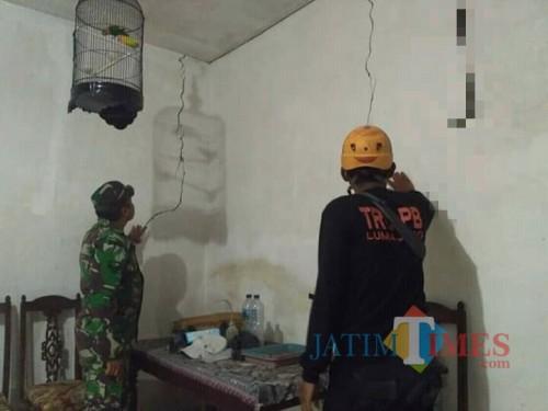 Salah satu rumah warga yang retak akibat gempa (Foto : BPBD Lumajang / Jatim TIMES)
