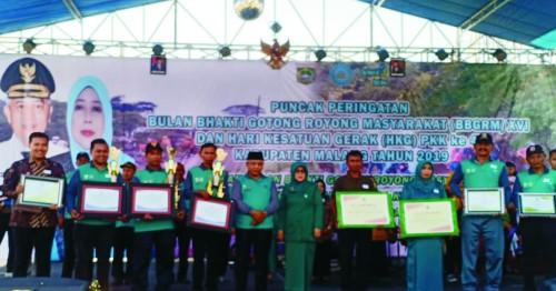 Bupati Malang Sanusi apresiasi para kades yang berhasil tingkatkan status desanya dari desa maju menjadi desa mandiri (nana)