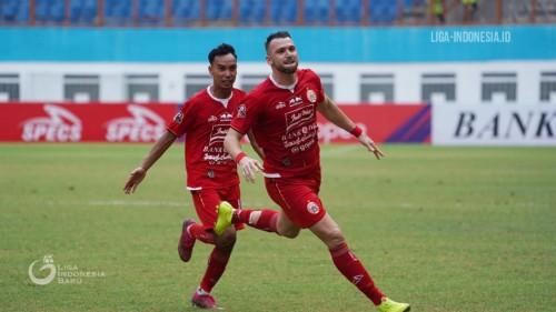 Marko Simic saat ciptakan empat gol ke gawang Borneo FC. (Liga Indonesia)